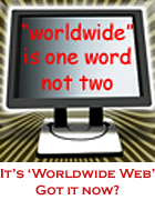 image of worldwide web on computer screen