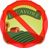 locavore food logo with a red slash in a circle overlayed