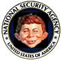 image of NSA logo with Alfred E. Neumann face superimposed
